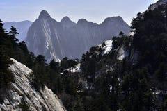 Sköt länge av berget Hua Arkivfoton