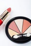 sköt makeups för sortimentdetaljmakro royaltyfri fotografi
