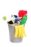 sköt studiotillförsel för hink cleaning Royaltyfri Foto
