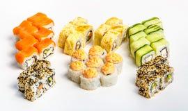 sköt sushi för black set Royaltyfria Foton