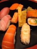 sköt sushi för black set Royaltyfri Foto