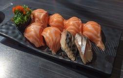 sköt sushi för black set Royaltyfri Fotografi