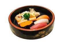 sköt sushi för black set Arkivbild