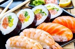 sköt sushi för black set Royaltyfri Bild