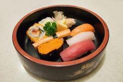 sköt sushi för black set Fotografering för Bildbyråer