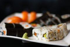 sköt sushi för black set Royaltyfria Bilder