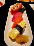 sköt sushi för black set Arkivbilder