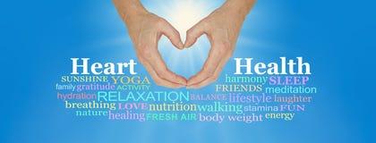 Sköta och älska din hjärta Arkivfoto