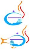 sköta om logo Royaltyfri Foto
