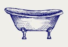 Skąpanie Close-up widok ilustracja wektor