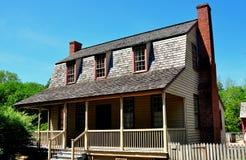 Skąpanie, NC: 1790 Van Dera Gwałtownie skręcać Holender kolonisty dom Obraz Royalty Free