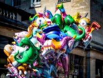 SKĄPANIE, SOMERSET/UK - PAŹDZIERNIK 02: Ballons dla sprzedaży w Kąpielowym Somers Obraz Royalty Free