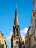 SKĄPANIE, SOMERSET/UK - PAŹDZIERNIK 02: Steeple St Michael kościół Zdjęcia Stock