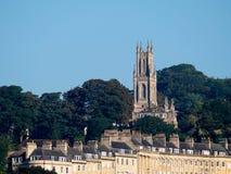SKĄPANIE, SOMERSET/UK - PAŹDZIERNIK 02: Widok St Stephen kościół wewnątrz Obraz Royalty Free