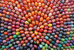 Skład barwioni jajka obrazy stock