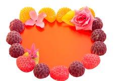Skład dla wakacyjnego walentynka dnia dla gratulacji na pięknym tle zdjęcia stock