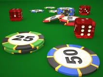 Skład kostka do gry i kasyno układy scaleni royalty ilustracja