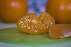 Skład plasterki mandarynka zdjęcia royalty free