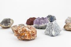 Skład różnorodni kryształy Obrazy Stock