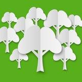 Skład stylizowani białego papieru drzewa Zdjęcia Royalty Free