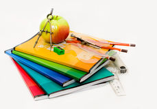 Skład szkolny temat nauczyciela dzień Zdjęcie Royalty Free