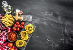 Skład tradycyjni Włoscy kuchnia produkty Fotografia Royalty Free