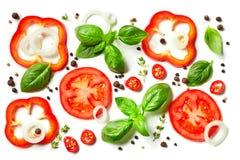 Skład warzywa, ziele i pikantność, zdjęcie royalty free