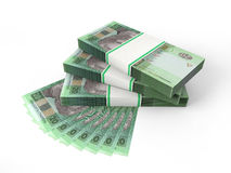 Skład z banknotami ukraiński pieniądze Obraz Stock