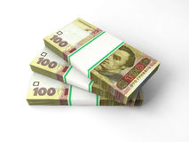 Skład z banknotami ukraiński pieniądze Obrazy Royalty Free