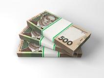 Skład z banknotami ukraiński pieniądze Fotografia Stock
