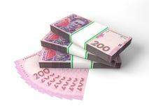 Skład z banknotami ukraiński pieniądze Zdjęcie Royalty Free