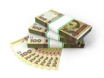 Skład z banknotami ukraiński pieniądze Obrazy Stock