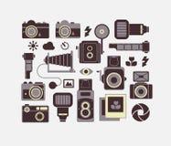 Skład z fotografia symbolami royalty ilustracja