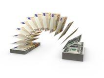 Skład z latającymi banknotami Obraz Stock