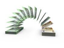 Skład z latającymi banknotami ukraiński pieniądze Obrazy Royalty Free