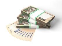 Skład z latającymi banknotami ukraiński pieniądze Fotografia Royalty Free