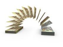 Skład z latającymi banknotami ukraiński pieniądze Fotografia Stock