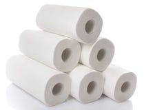 Skład z papierowego ręcznika rolkami Fotografia Stock