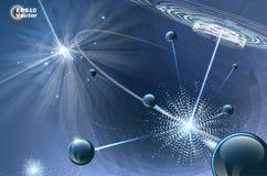Skład z wybuchem cząsteczki Zdjęcie Royalty Free