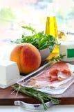 składników posiłku przygotowanie Zdjęcie Stock