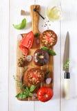 składników sałaty przygotowania sałatkowy warzywo Zdjęcie Stock