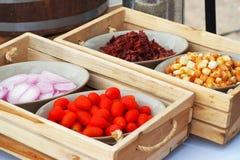 Składnik dla kulinarnej sałatki ja Zdjęcie Royalty Free