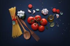 Składnik dla spaghetti włocha jedzenia zdjęcie stock