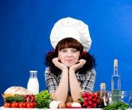 składnik kucbarska karmowa kobieta Fotografia Stock
