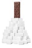 składnika prętowy czekoladowy cukierki Obrazy Royalty Free