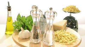 składniki żywności kulinarni włoskich zdjęcie wideo
