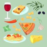 składniki żywności kulinarni włoskich royalty ilustracja