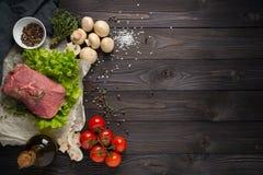 Składniki dla kulinarnego mięsa Zdjęcia Royalty Free