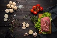Składniki dla kulinarnego mięsa Obraz Royalty Free