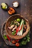 Składniki dla Tajlandzkiego zupnego Tom ignamu Zdjęcie Royalty Free